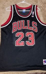 Michael Jordan #23 Chicago Bulls Champion Jersey